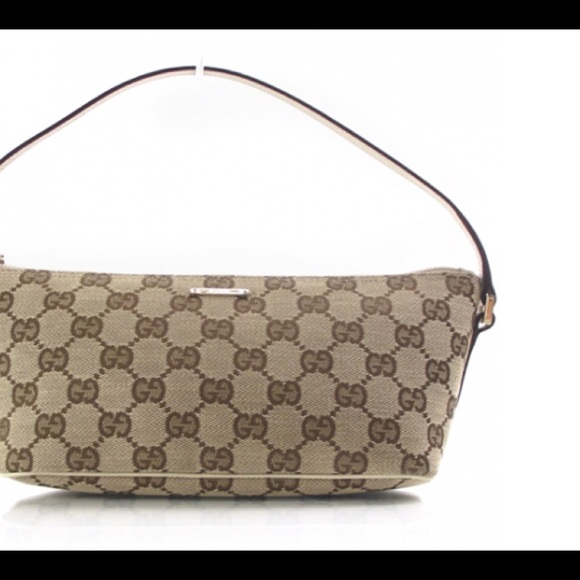 d0459216c428 Gucci Handbags - GUCCI Pochette Tan Brown GG Link Monogram Bag Mini